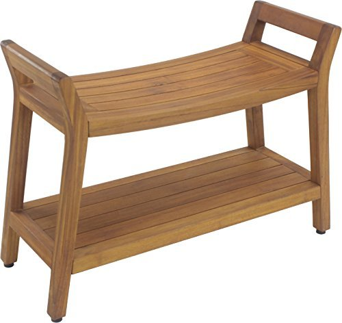 Asia Ascend Estate Teak Shower Bench with Shelf by Asia A...
