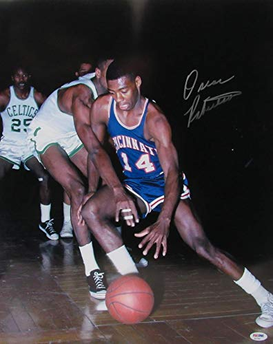 Oscar Robertson Cincinnati Autographed/Signed 16x20 Color Photo PSA/DNA 140421 - Robertson Signed Photo
