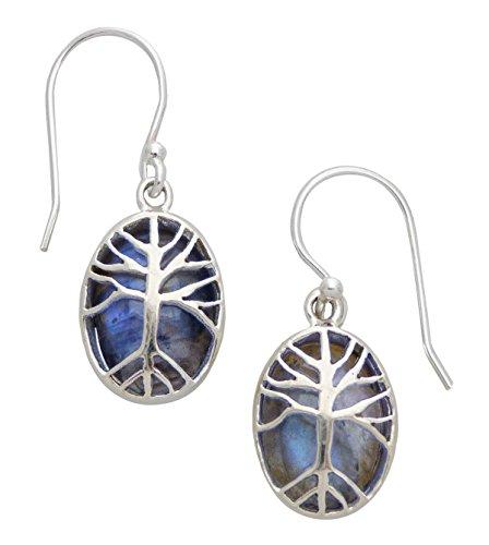 Tree of Life Sterling Silver Earrings (Kyanite Moonstone Necklace)
