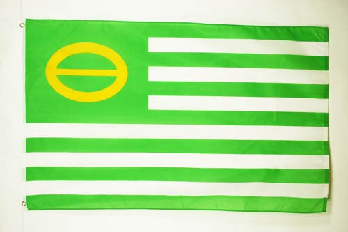 ECOLOGIST FLAG 3' x 5' - GREEN FLAGS 90 x 150 cm - BANNER 3x