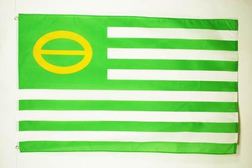 ECOLOGIST FLAG 3' x 5' - GREEN FLAGS 90 x 150 cm - BANNER 3x