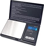 American Weigh Scales AWS-1KG-BLK Signature Series Black Digital Pocket Scale, 1000 by 0.1 G (2, Black)