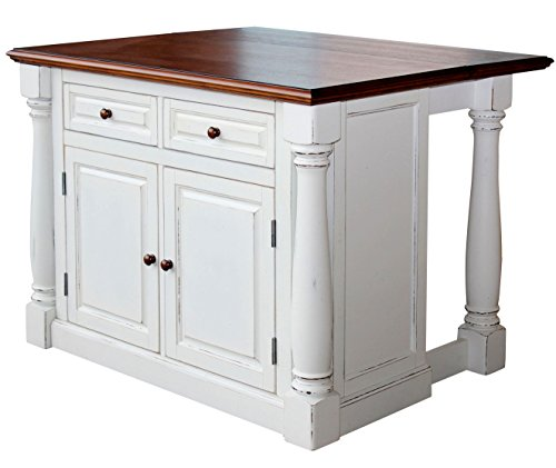 Home Styles Monarch Kitchen Island, Antique White Finish by Home Styles (Image #2)