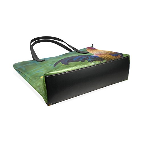 Handle Bags Painting Women's Bennigiry Shoulder Handbags Purse Oil Rooster Tote Satchel Large Top nUgq4