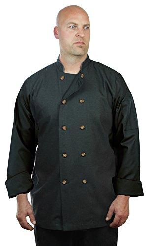 ASD Living High End Denim Long Sleeve, Black,XX-Large Chef Coat