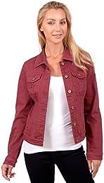 Amazon.com: Red - Denim Jackets / Coats Jackets &amp Vests: Clothing