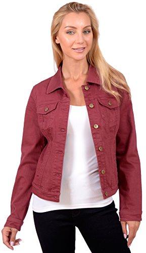 Womens Sleeve Button Up Denim Jacket product image