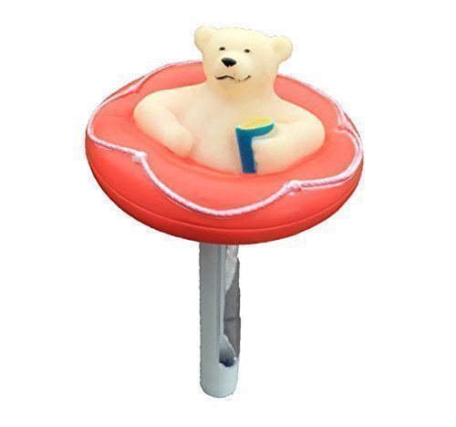 Red Floating Bear Thermometer for Swimming Pools, Hot Tubs or Ponds Happy Hot Tubs