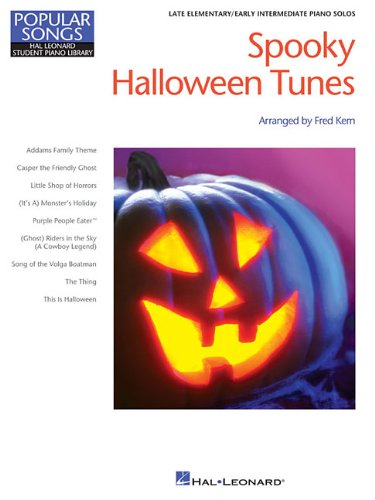 Spooky Halloween Tunes - Hlspl Popular Songs Series - Late Elem/Early Int Level (Hal Leonard Student Piano Library Popular Songs)]()
