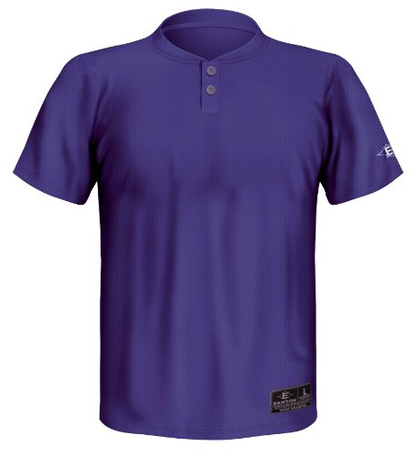 Easton Jersey Baseball - Easton Youth Skinz 2 Button Placket Jersey, Purple, Small