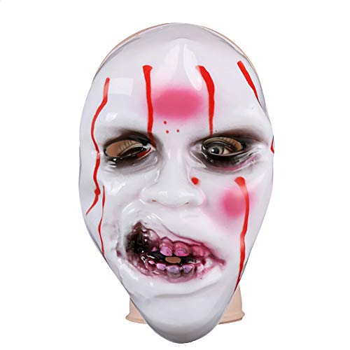 Aobiny Halloween Mask, Halloween Horror Grimace Zombie Mask