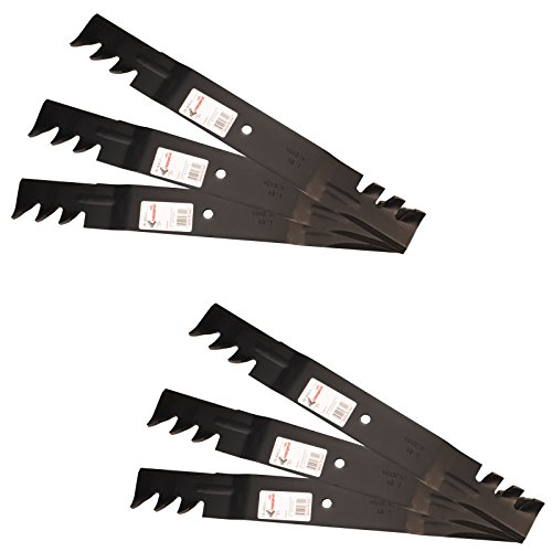 - Six (6) Pack Rotary Copperhead Mower Blades To Replace Grasshopper And Woods 320243 Requires (3) Blades For 61