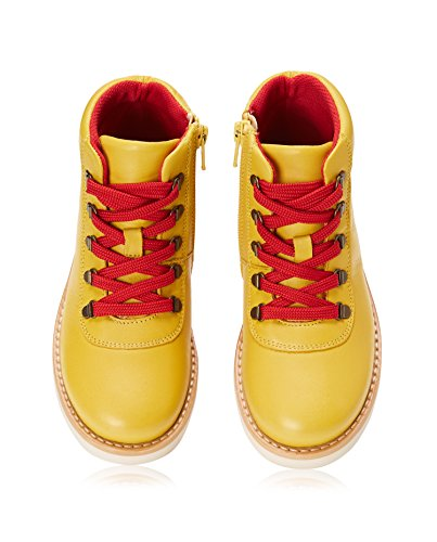 à WAGON RED Fermeture Jaune Bottines Yellow Lacets Éclair Garçon aEnZ1qwn