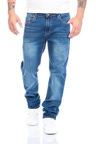 Herren Jeans Hose Straight Fit ID396, Größe:W36/L34