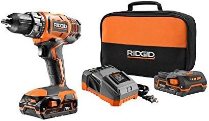 Ridgid R860052K 18 Volt 500 Lbs. Torque 1,500 RPM Hyper Lithium Ion Cordless Drill Driver Kit
