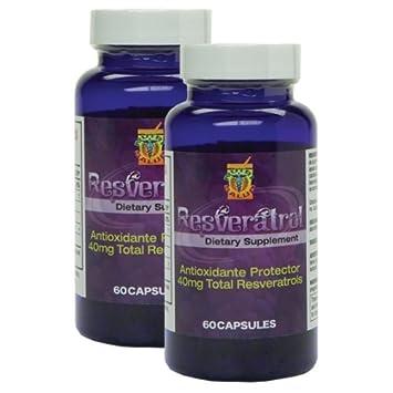 Resveratrol alta potencia. Set de 2 Frascos con 60 gelcaps c/u. Poderoso
