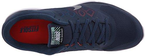 Nike Unisex Adults' Flex 2015 Rn Flash Running Shoes Azul / Naranja / Blanco / Plata (Sqdrn Bl/Mtllc Slvr-hypr Orng) qmrdx4R