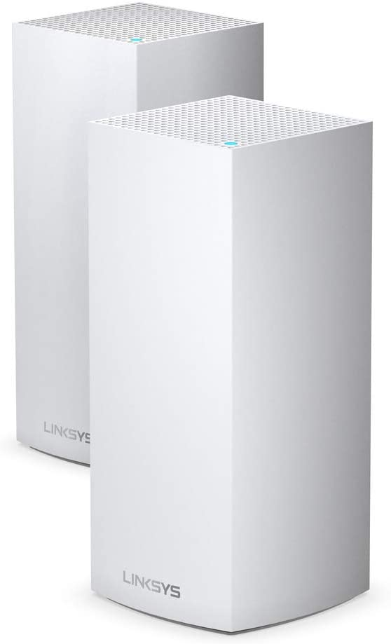 Linksys Velop WiFi 6 Mesh Router (WiFi 6 Mesh WiFi System for Whole-Home WiFi Mesh Network) MX10 Velop AX (2-pack, White)
