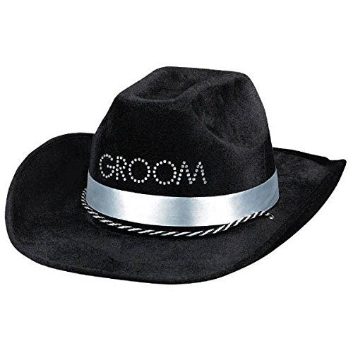 Groom Cowboy Hats - Amscan AMSDD Avant Garde Groom to Be Cowboy Hat Bachelor's Party Headwear.