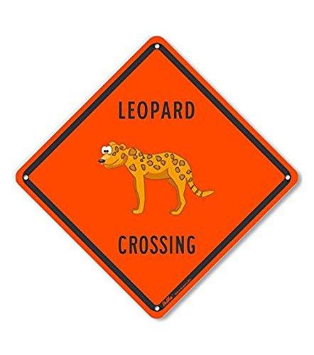 PetKa Signs and Graphics PKAC-0372-NA/_10x10Leopard Crossing Aluminum Sign 10 x 10