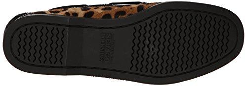 Patent Sebago black Boat Leopard Print Spinnaker Shoes UwYpSwRq