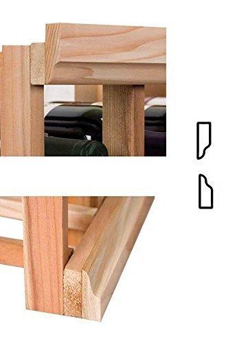 4 ft. Moulding w OG Base & OG Crown (Premium Redwood - Classic Mahogany Stain), Model: , Hardware Store Review