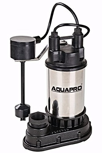 Aquapro Sp07502vd Submersible Sump Pump 1 Hp 5100 Gpm Cast Iron Stainless (Cast Iron Volute)