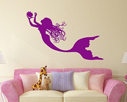 Cheap  Mermaid Wall Decal Nymph Girl Tail Sea Animal Sea Ocean Vinyl Sticker..