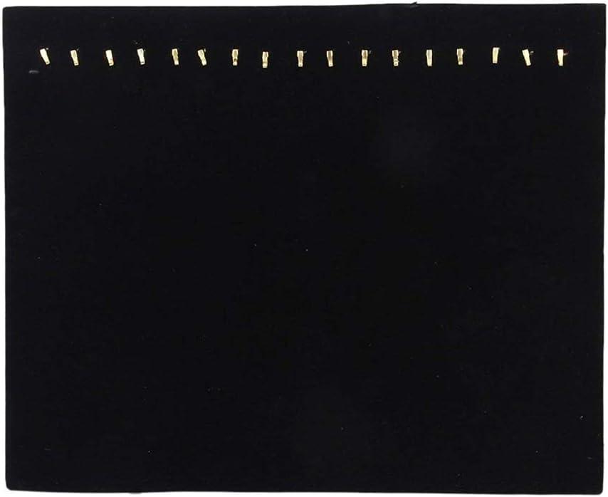 Ogquaton Plateau /à bijoux Organisateur de bijoux Porte-bijoux Pr/ésentoir /à bijoux Plateau /à bijoux en velours pour afficher des bijoux 17 Crochets Noir Rentable et de bonne qualit/é