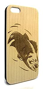 Genuine Maple Wood Organic Fish Sea Life Snap-On Cover Hard Case for iPhone 5C
