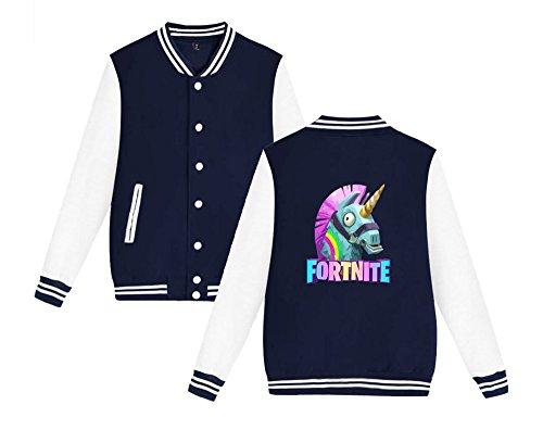 Sweatshirts Fortnite Per Unisex Comode Donne Baseball Moda Casual Aivosen Leggera Uomini Blue4 Da E Allentato Giacca Dark Stampate z4Uqw