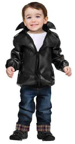 T Bird Grease Costume (Fun World Costumes Baby Boy's T-Bird Gang Toddler Jacket, Black, Large)