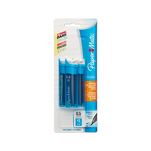 Paper Mate Mechanical Pencil Refills, 0.5mm, HB #2, 105 Count (Automatic Pencil Lead)