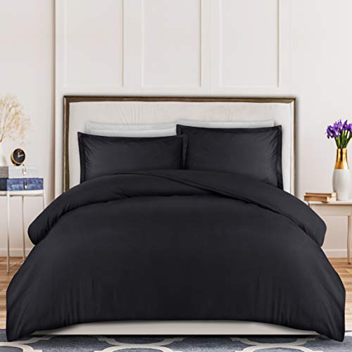 Utopia Bedding Duvet Cover Queen Size Set – 1 Duvet Cover with 2 Pillow Shams – 3 Pieces Comforter Cover with Zipper…