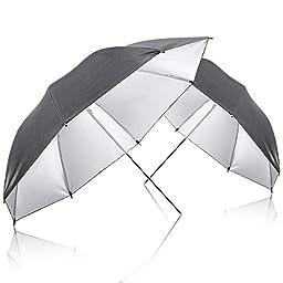 Neewer® 600W Photography Studio Triple Continuous Lighting Kit, includes:2 x White& Black/Silver Umbrella Lighting, 1 x Table Top Mini Lighting Kit