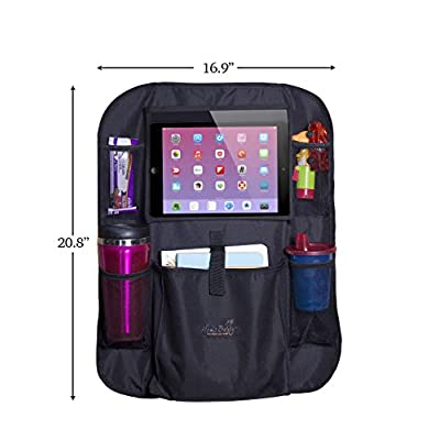Mom's Besty Car Back Seat Organizer for Kids and Toddlers - Touch Screen Tablet Holder for Android & iOS Tablets - Multipurpose Use as Auto Seat Back Protector, Kick Mat, Car Organizer: Baby
