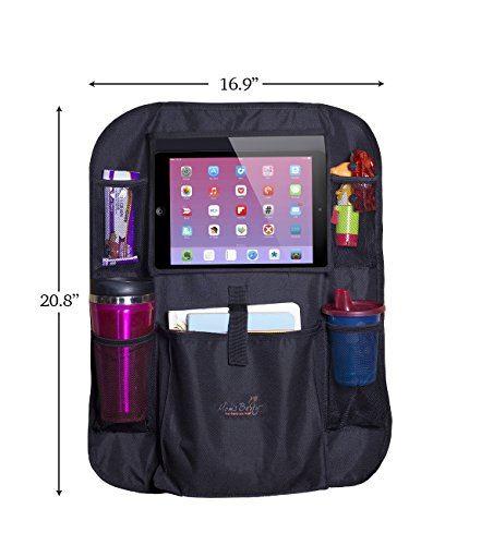 Mom's Besty Car Back Seat Organizer for Kids and Toddlers - Touch Screen Tablet Holder for Android & iOS Tablets - Multipurpose Use as Auto Seat Back Protector, Kick Mat, Car Organizer by Mom's Besty (Image #2)