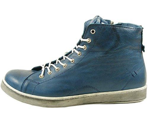 Andrea Conti 0341500 Scarpe Da Donna Tacco Basso Sneaker Alto Blu