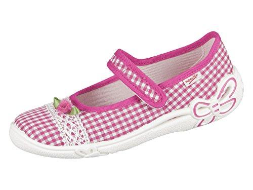 Superfit Hausschuh Ballerina Belinda 00287-64 Vichy Pink Gr.25-35 Rosa