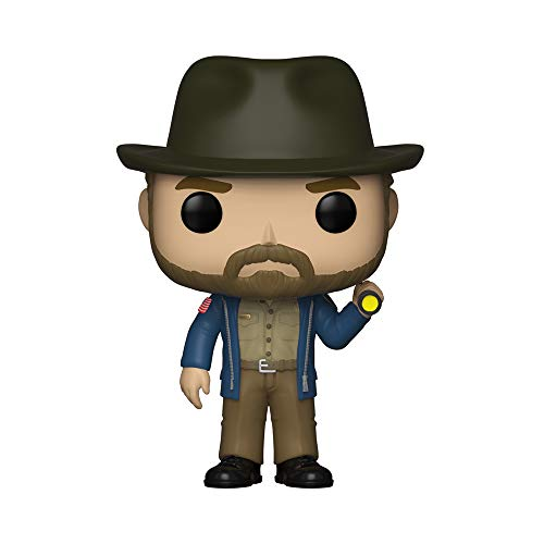 Funko - 36039 - Pop Vinilo, television, Stranger Things, Hopper con Linterna, Multi