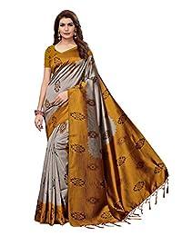 e441b4ca989 CRAFTSTRIBE Art Silk Designer Sari Indian Saree Party Wear Traditional  Printed Bollywood Dress