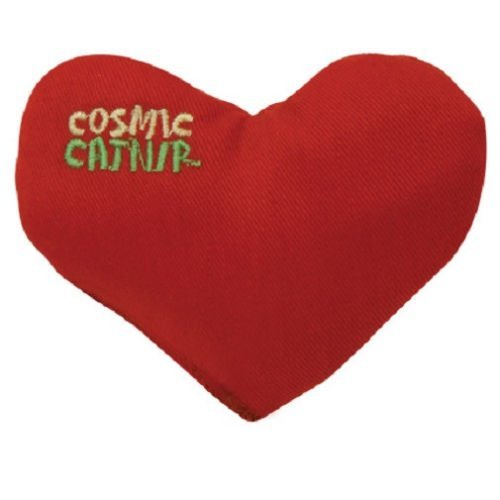 (Cosmic 100% Catnip Filled Heart Crush Cat Toy )