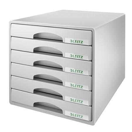 Leitz, 52120035, Cassettiera A4, Plus, 6 cassetti, Polistirene, Blu Esselte