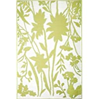 Mad Mats Bellingrath Indoor/Outdoor Floor Mat, 6 BY 9 Feet, Ginko