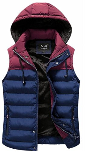 today Hooded UK 5 Men's Jacket Removable Quilted Warm Vest Sleeveless Puffer wZ6q14xZ7