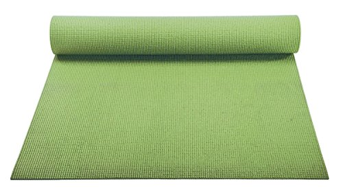 YogaAccessories 1/8'' Lightweight Classic Yoga Mat and Exercise Pad - Olive Green