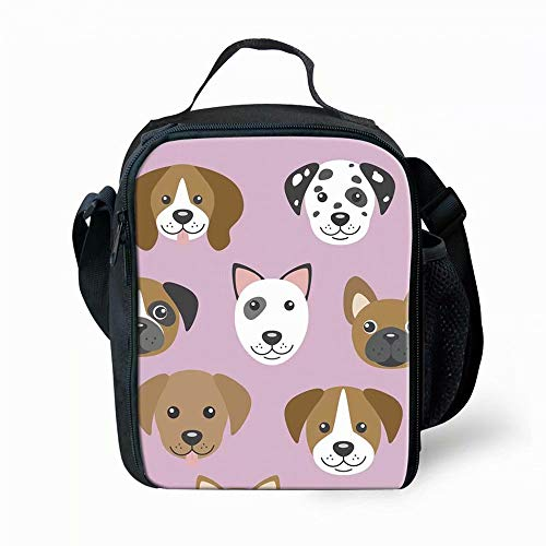 (Insulated Lunch Boxes Bags Small Kid Dogs Personalized Lunch Carrier for School )