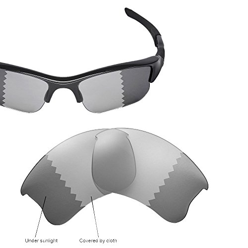 Transitions Flak Jacket (Cofery Replacement Lenses for Oakley Flak Jacket XLJ Sunglasses - Multiple Options Available (Transition/photochromic - Polarized))