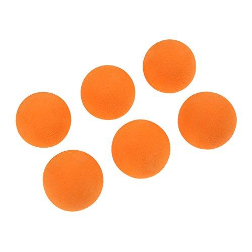 MUXSAM 20 pcs Orange Foam Golf Ball Indoor Exercise Ball Eva Solid Color