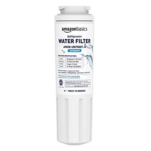 AmazonBasics Replacement Maytag UKF8001 Refrigerator Water Filter Cartridge – Advanced Filtration